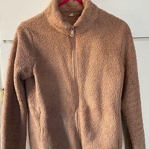 Pink Uniqlo soft jacket